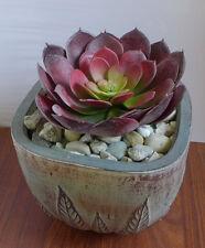 "Head 7"" Special Big Snow Lotus Artificial Desert Grass Succulent Plants(Red)"