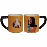 Westland Giftware Star Trek Worf Mug Coffee Ceramic Collectible 16 oz Orange