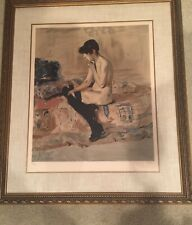 """Laurent Marcel Salinas """"Nude on Bed"""" Printed & Signed Lithograph & Framed"""