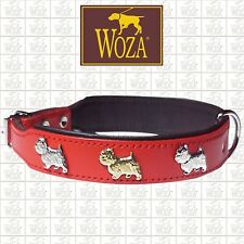 Premium Dog Collar West Highland Terrier WOZA Full Leather Soft Cow's Napa OC325