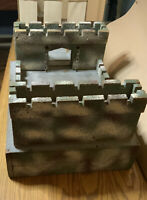 Vintage Tri-any Box Away Fort Kit With Drop Down Drawbridge Very Good Condition