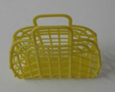"NEW Vintage Retro YELLOW 13"" (1980's) JELLY Plastic Purse/Handbag (Made in USA)"