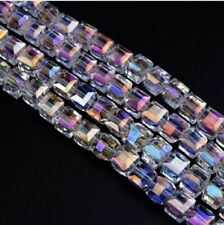 100pcs White AB Colorful Crystal Beads Glass Spacer Bead Jewelry Making 4-8mm