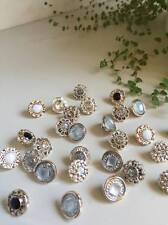 10 piezas mixtas de resina de esmalte de oro rosa de los botones de espiga redonda de recortes 13mm (114)