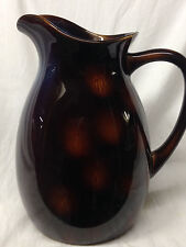 ABODE PITCHER DARK CHOCOLATE  BROWN LIGHT TAN SPOT TORTISE SHELL PATTERN GLOSSY