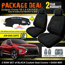 Mitsubishi Eclipse Cross YA SEAT COVERS 2ROWs + DASH MAT + HUD 11/2017-19 BLACK