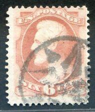 U.S. Stamps, Scott #159, Used, Fancy Cancel, Value: $43*.  [0925]