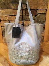 Anthropologie Day & Mood Peony Tote Leather Chevron Pearl Scandinavian Bag $248
