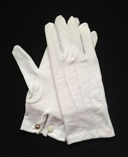 White Cotton Dress Gloves Snap Wrist Medium (Dozen)