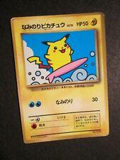 PL (worn) JAPANESE Pokemon (Glossy)SURFING PIKACHU Card PROMO #025 CoroCoro AP#1