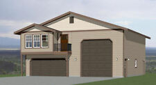 40x42 Apartment with 2-Car 1-RV Garage - PDF FloorPlan - 1,153 sqft - Model 1