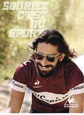 PUBLICITE ADVERTISING 114  2014  LE COQ SPORTIF  vetements sport cyclisme vélo