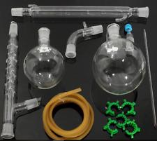 1000ml 24/29 Distillation Apparatus Lab Vacuum Distill Kit Vigreux Column Arm