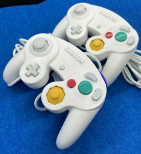 Official Nintendo GameCube Controller Pad GC Switch Wii Tight Stick white set 2