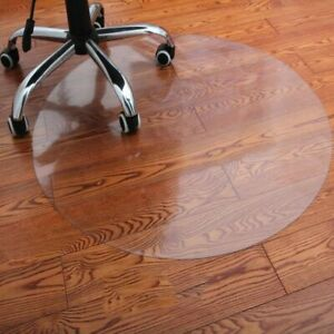 PVC Transparent Waterproof Plastic Soft Chair Round Wood Floor Protection Mat