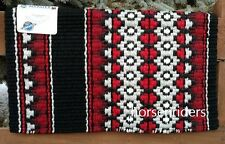 "Western Wool Show Saddle Blanket-Custom-34""x40""-Black-Red-Burgundy-Gray-Metallic"