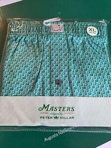 2021 Masters Golf Peter Millar Logo Print Boxers Augusta National Size XL NEW