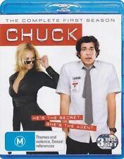 Chuck Season 1 Complete 3 Disc Set Blu-ray Region