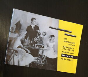 Bolex Werbeprospekt Projektor Sonorizer 60er Jahre 6 Seiten (Vintage)