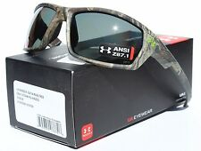 UNDER ARMOUR Ranger POLARIZED Sunglasses Realtree Camo/Gray Storm Hunting NEW