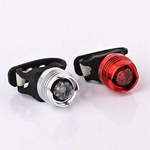 front & rear ruby bike lights set - bright aluminium silicone - BATTERY INCLUDED