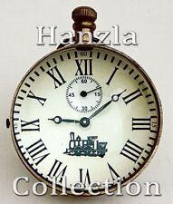 Antique Brass Desk Clock Mid Century Modern Pocket Watch Maritime Nautical Decor