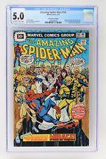 Amazing Spider-Man #156 - Marvel 1976 CGC 5.0 - 30 Cent Variant!