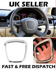 Silver Audi Steering Wheel  Surround Trim Sticker Emblem Audi A4 A5 A6 Q5 Q7