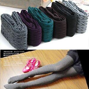 Classic Women Girls Cotton Knit Stretch Leggings Winter Warm Gift