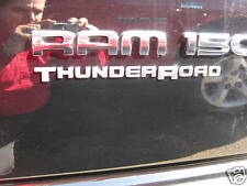 Dodge Ram Thunder Road Decal Decals Emblem Mopar Oem Set of 2 Chrome 3D