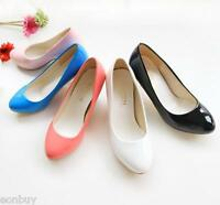 Womens Round Toes Shoes Synthetic Leather High Heels Party Pumps US Size S008