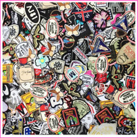 Random Patches 50pcs/lot Girls Kids Iron On For Clothing Applique Sticker DIY
