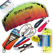 Prism Synapse 170 Mango Foil Power Stunt Kite + 75 ft Tube Tail + Padded Straps