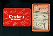 New listing 2 SWAP PLAYING CARD AUSTRALIAN ADVERTISEMENT CYCLONE PRODUCTS GATES FENCING