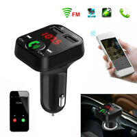 Bluetooth In-Car FM Transmitter Radio MP3 Wireless Adapter Car Kit 2 USB Charger