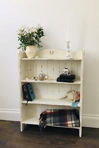 Sweet antique oak book shelf painted Annie Sloan chalk paint, shabby chic.