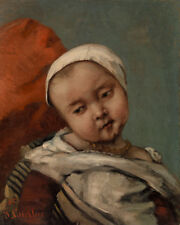 Head of Baby by Gustave Courbet 60cm x 48cm Art Paper Print