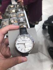 FOSSIL pretendiente mano de tres Reloj De Cuero Negro BQ3130