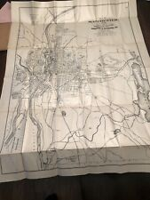 Manchester New Hampshire 1906 Fold Out Map Book Sampson Murdock B&M Railroad.