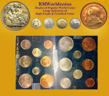 Ireland 1952-1956 8 Pcs Mint Set, All Gem BU in Holder, Rare Key Dates.
