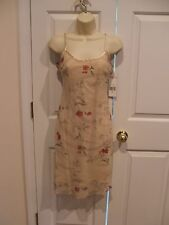 NWT all that jazz $119 beige fully lined floral dressy  dress   size junior 3/4