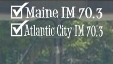 2018 Or Any year Ironman 70.3 Atlantic City, Maine Triathlon Finisher Decal