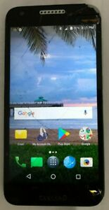 [BROKEN] Alcatel Zip A577VL 16GB (Tracfone) Smartphone Black Cell Phone Cracked