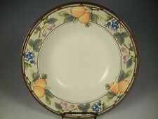 Mikasa Intaglio GARDEN HARVEST CAC29 Rimmed Soup Bowls 9 1/2 in.