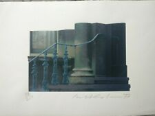 IVOR ABRAHAMS signed and numbered Oxford Gardens print rare