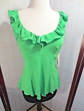 New Women's ECI ruffle top, blouse, shirt  sz SMALL S