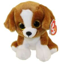 "Ty Beanie Baby Boo's 6"" Snicky the Dog Stuffed Animal Plush New w/ Heart Tags"