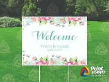Wedding Custom 18x24 Yard Sign Coroplast Printed Double Sided With Free Stand