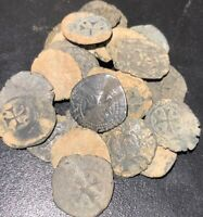 RARE MEDIEVAL SPANISH KNIGHTS TEMPLAR CROSS COIN EUROPEAN CRUSADER