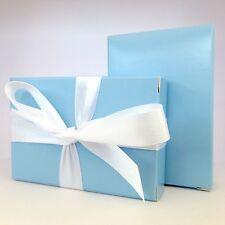 "70 Luxury Baby Blue Wedding Christening Shower Cake Favour Boxes ""Free P&P!"""